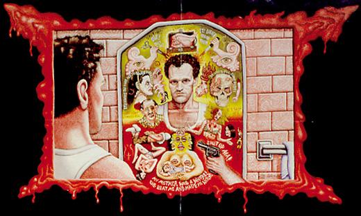 "Poster art for ""Henry: Portrait of a Serial Killer"" | Joe Coleman"