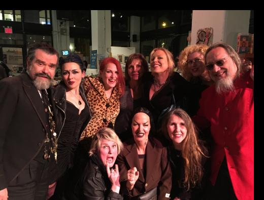 Joe, Nicolette Nolan, Jo Weldon, Patty Powers, Whitney, Laura Kaplan, Ratso Sloman, Tessa Hughes-Freeland, Kembra Pfahler and Erin Norris.
